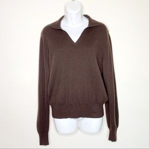 🎉HP🎉 Lord & Taylor Cashmere V-Neck Sweater XL